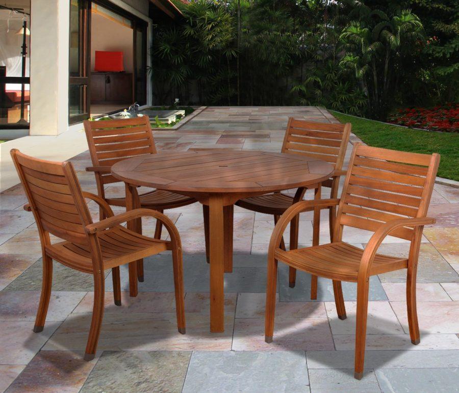 18-outdoor-teak-furniture-set Best Teak Patio Furniture Sets