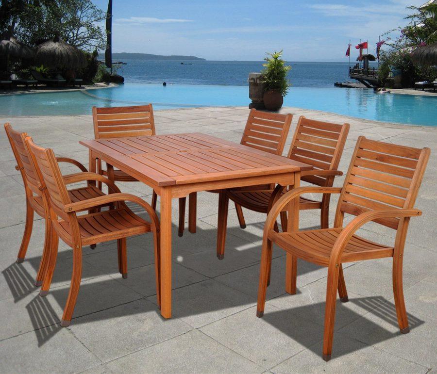 19-outdoor-teak-furniture-set Best Teak Patio Furniture Sets