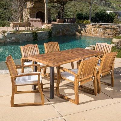 6-outdoor-teak-furniture-set Best Teak Patio Furniture Sets