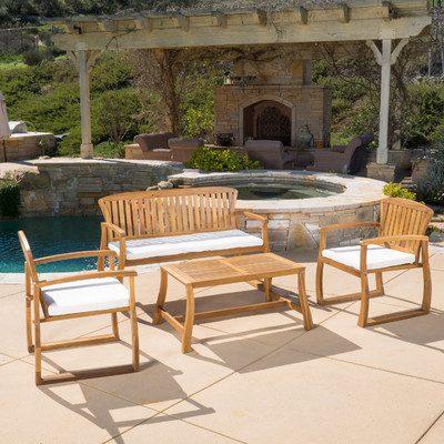 7-outdoor-teak-furniture-set Best Teak Patio Furniture Sets