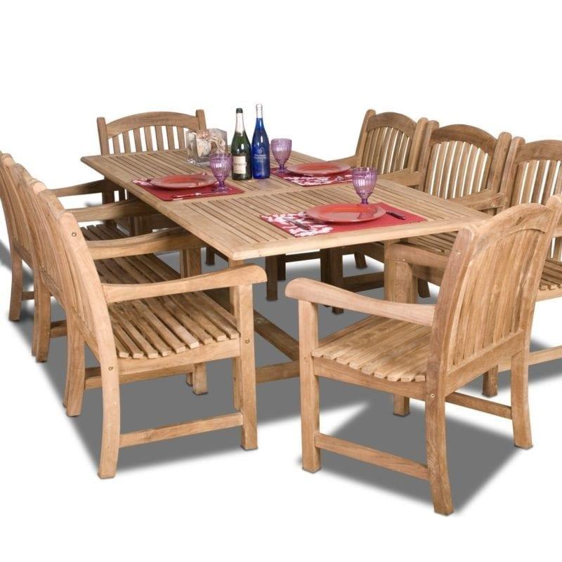 amazonia-teak-newcastle-9-piece-dining-set-800x800 Best Teak Patio Furniture Sets