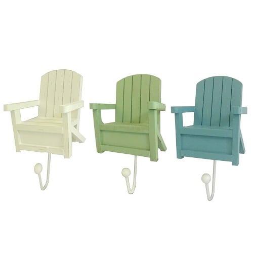 Beach Chair Wall Hook Set Of 3 Hooks