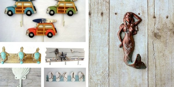 Beach Wall Hooks and Beach Towel Hooks