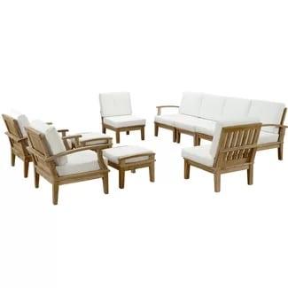 beachcrest-hom-teak-seating-set Best Teak Patio Furniture Sets