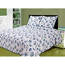 blue-sea-gems-seashell-quilt 50+ Starfish Bedding Sets and Starfish Quilt Sets