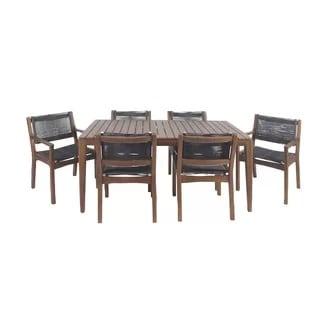 bungalow-rose-7-piece-teak-dining-set Best Teak Patio Furniture Sets