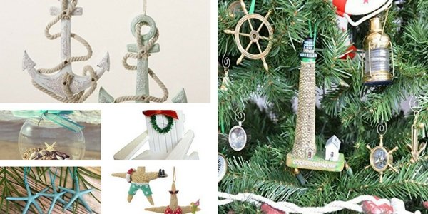 Beach Christmas Ornaments and Nautical Christmas Ornaments