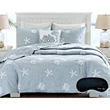 coastal-beach-house-starfish-quilt 50+ Starfish Bedding Sets and Starfish Quilt Sets