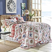 coastal-blue-beige-starfish-quilt 50+ Starfish Bedding Sets and Starfish Quilt Sets
