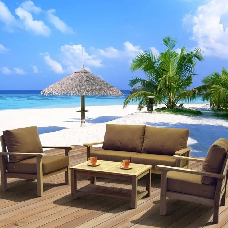 elsmere-4-piece-deep-seating-wicker-cushion-set Best Teak Patio Furniture Sets