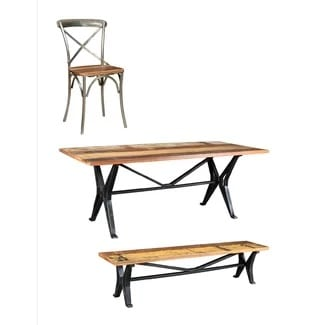 gracie-oaks-coaker-6-piece-dining-set Best Teak Patio Furniture Sets