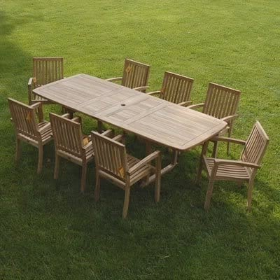 grade-a-teak-dining-set Best Teak Patio Furniture Sets