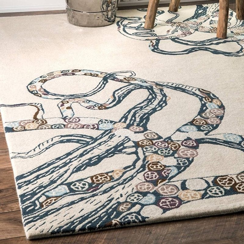 hand-tufted-rainbow-octopus-rug-800x800 50+ Octopus Rugs and Octopus Area Rugs