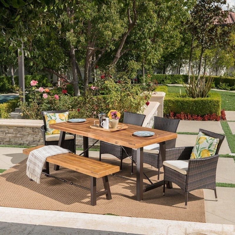 jelle-outdoor-6-piece-wicker-teak-dining-set-800x800 Best Teak Patio Furniture Sets