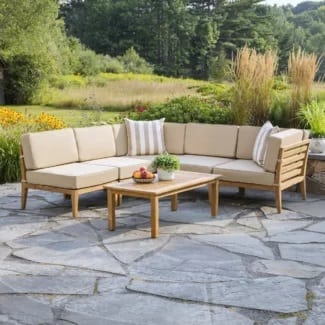 madbury-road-bali-teak-sectional-seating-group Best Teak Patio Furniture Sets