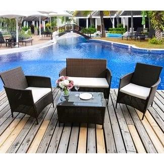 merax-4-piece-deep-seating-wicker-patio-furniture-2-3 Best Wicker Patio Furniture Sets