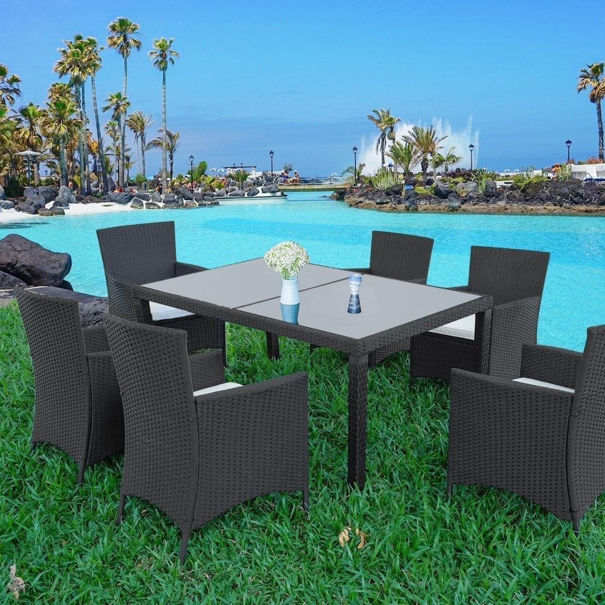 merax-outdoor-wicker-dining-set-4-5 Best Wicker Patio Furniture Sets