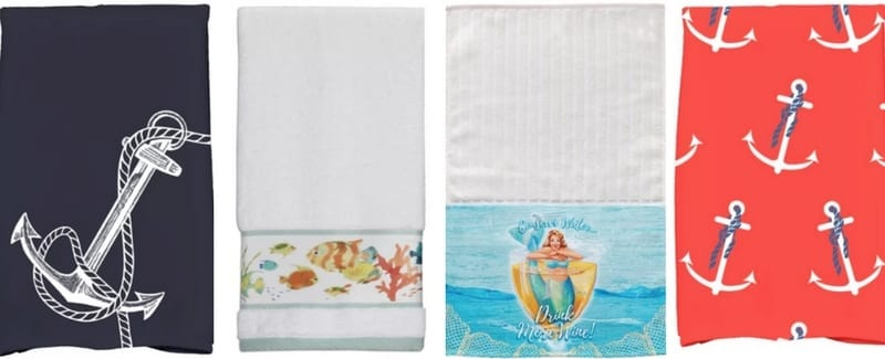 Beautiful Beach and Nautical Hand Towels