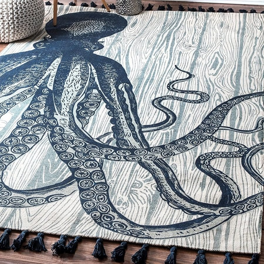 nuloom-octopus-tassel-rug 50+ Octopus Rugs and Octopus Area Rugs
