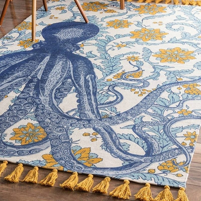 nuloom-thomas-paul-flatweave-octopus-rug-800x800 50+ Octopus Rugs and Octopus Area Rugs