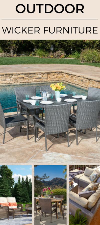 outdoor-wicker-furniture Best Wicker Patio Furniture Sets