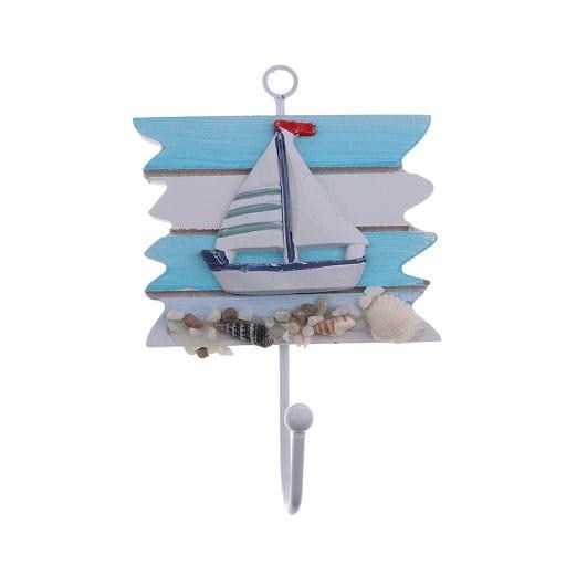sailboat-wall-hook Beach Wall Hooks & Beach Towel Hooks