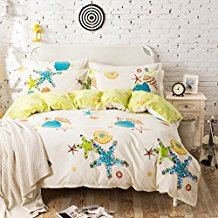 starfish-conch-duvet-cover 50+ Starfish Bedding Sets and Starfish Quilt Sets