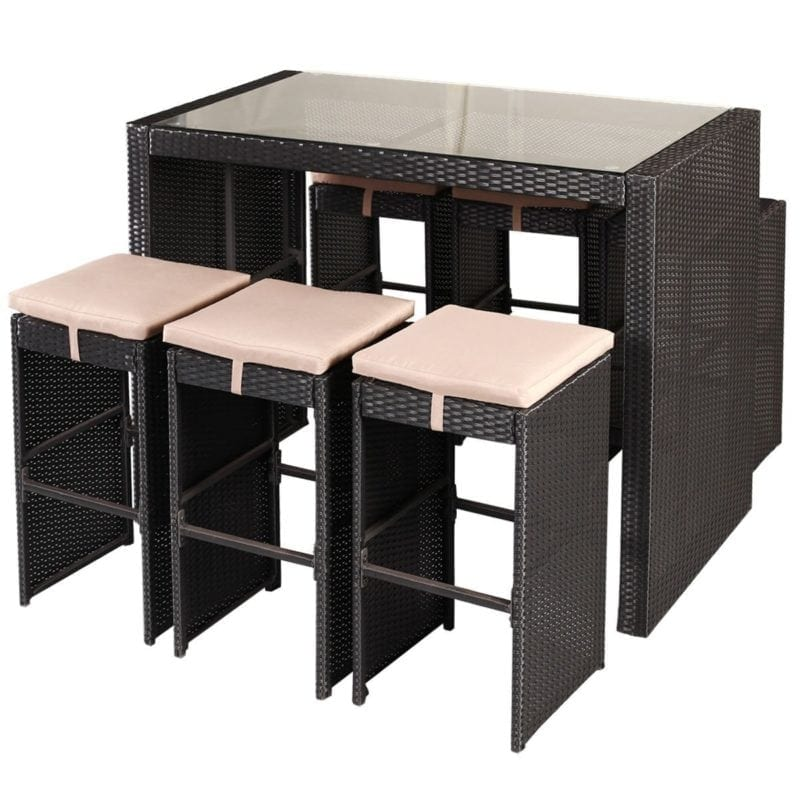 tangkula-wicker-patio-barstool-dining-set-3-4-800x800 Best Wicker Patio Furniture Sets