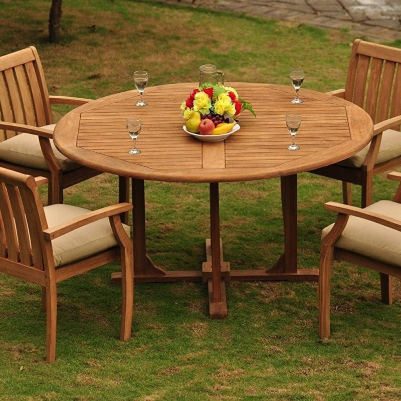 teak-circle-wood-dining-set-800x800 Best Teak Patio Furniture Sets