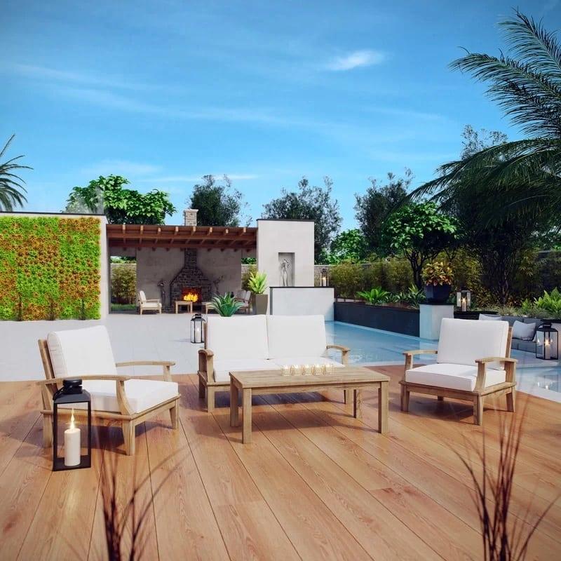 teak-conversation-furniture-set Best Teak Patio Furniture Sets