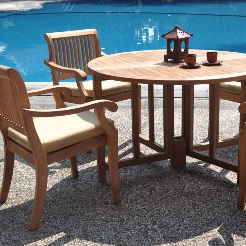 teak-wood-circle-dining-set-800x800 Best Teak Patio Furniture Sets