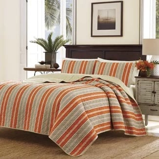 tommy-bahama-stripe-quilt-set Hawaii Themed Bedding Sets
