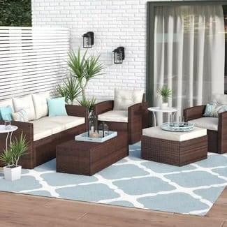 wrought-studio-sanor-5-piece-wicker-furniture-set-6-7 Best Wicker Patio Furniture Sets