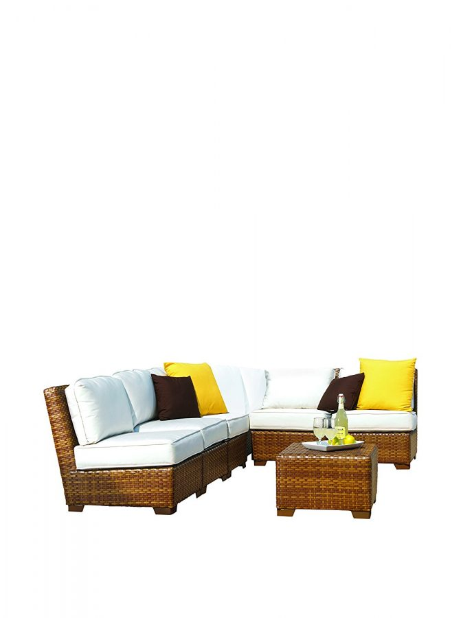 Panama Jack Outdoor Faux Wicker Sectional