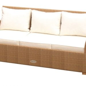 royal teak charleston collection wicker sofa