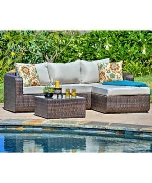 Luies 3-PC Deep Seated Wicker Sectional