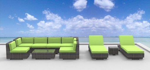 urban finishing 10pc wicker sofa and lounge set