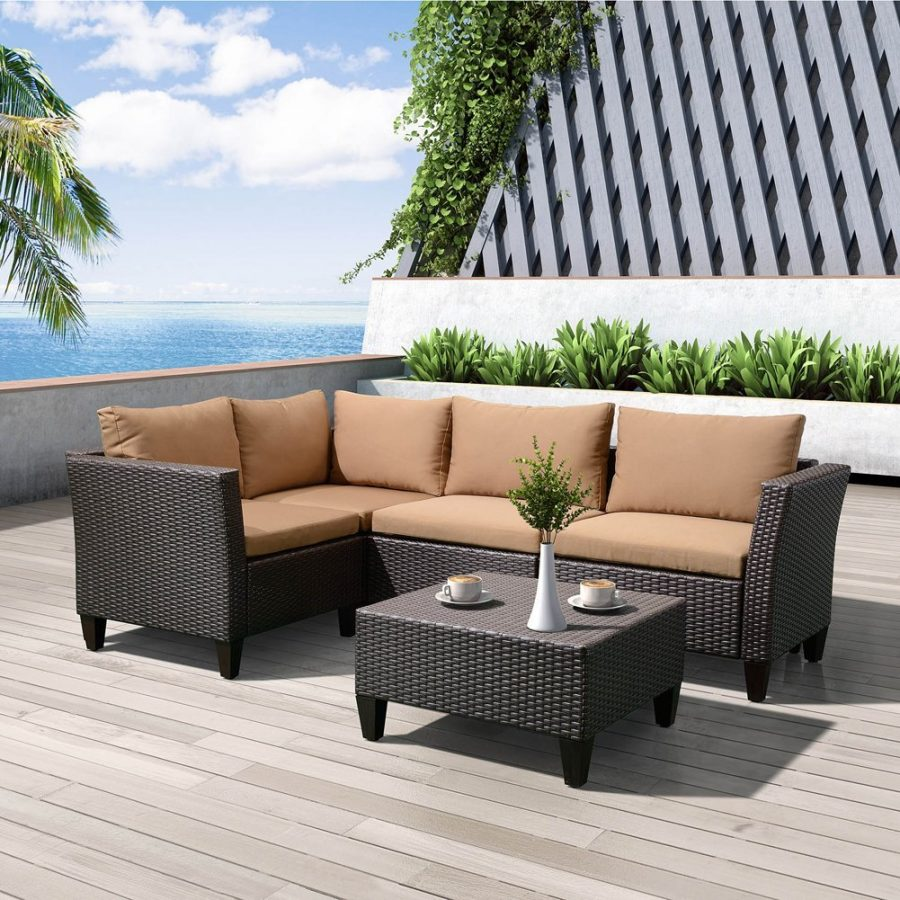 Art To Real Outdoor Wicker Sectional Sofa Set