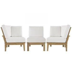 outdoor teak patio sofa set