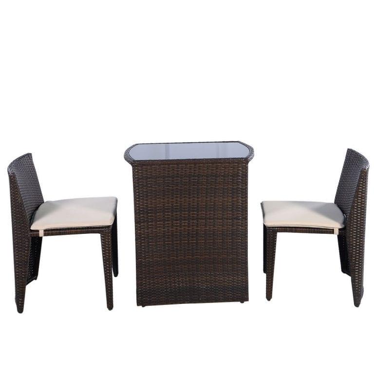 Premium Product 3-PC Wicker Conversation Dining Set