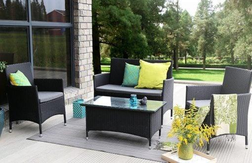 baner garden wicker sofa set