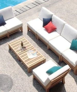 wholesaleteak sectional teak patio set