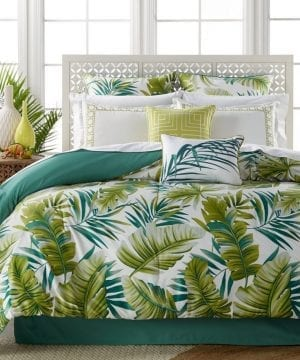 palm tree bedding set in a bag