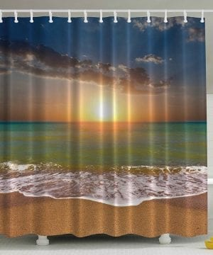 22-Ocean-Beach-Sunrise-Shower-Curtain-300x360 200+ Beach Shower Curtains and Nautical Shower Curtains