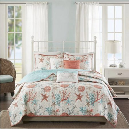 23-coastal-starfish-ocean-themed-quilt-450x450 Coastal Bedding Sets and Beach Bedding Sets