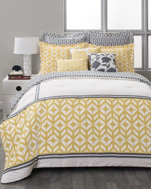 South Beach Yellow Comforter Set