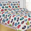 Colorful Patterned Tropical Fish Comforter Set