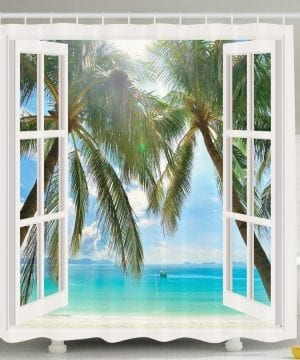 29-Window-Ocean-Views-Shower-Curtain-300x360 200+ Beach Shower Curtains and Nautical Shower Curtains