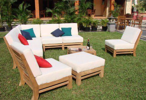 wholesaleteak sectional teak patio set