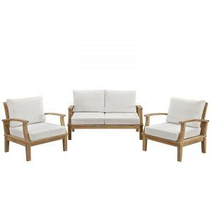 lexmod outdoor teak sofa set